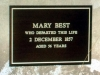 Beckett, Mary (1800-1857) - plaque