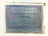 Channell, Frederick Wilfred (1910-1960) - plaque
